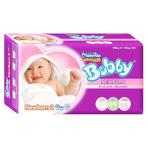 Tã giấy sơ sinh Bobby Newborn 2