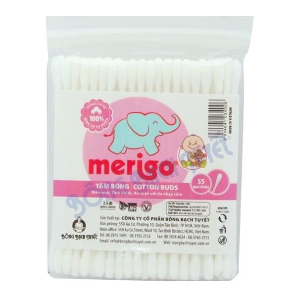 Tăm bông vệ sinh tai Merigo (10 gói)