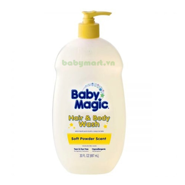 Tắm gội Baby Magic Sof Powder 887ML