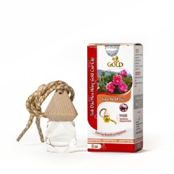 Tinh dầu hoa hồng gold cao cấp 10ml loại treo