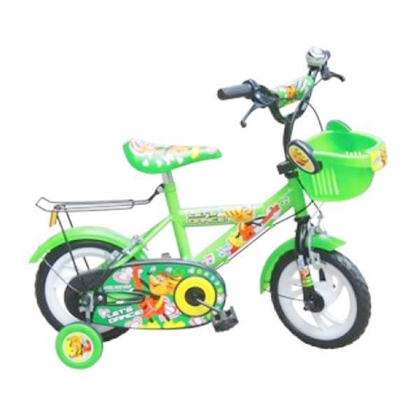 Xe đạp 14 inch Chuột xanh lá