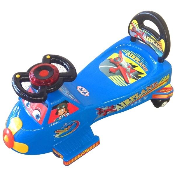 Xe lắc máy bay/siêu nhân/gấu trúc cho bé