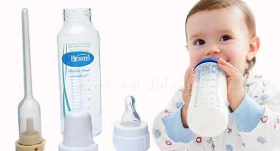 Bình sữa Dr Brown's được các chuyên gia khuyên dùng
