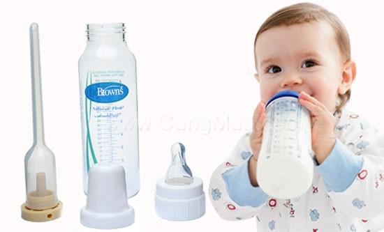 Giúp mẹ nhận biết bình sữa Dr Brown thật và giả