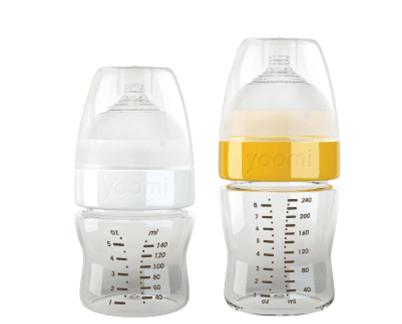 Bình sữa Yoomi tự hâm nóng - Thiết kế tinh tế và đột phá