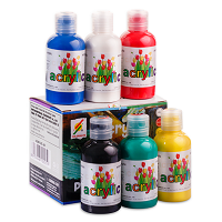 6 bottles of color painting ACRYLIC 120ml - ACRYLIC-6B