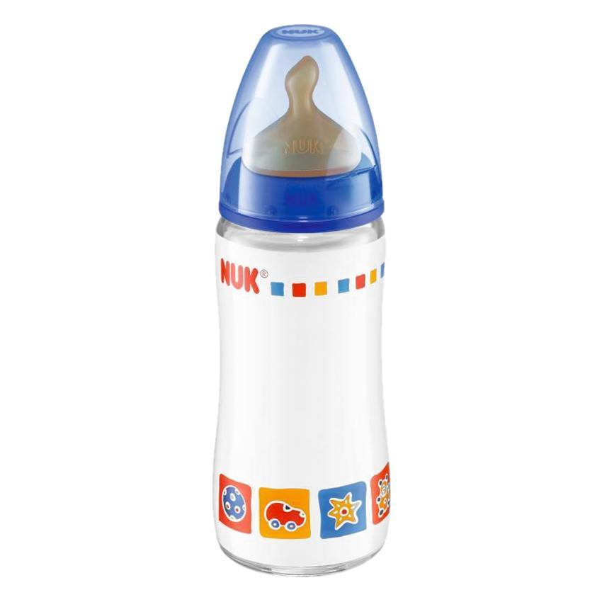 Nuk PP Wide-Neck Bottle With Rubber Nipple 300ml