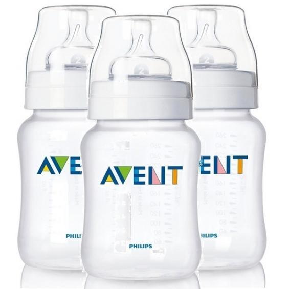 Bình sữa Avent Natural nhựa 260ml set 3