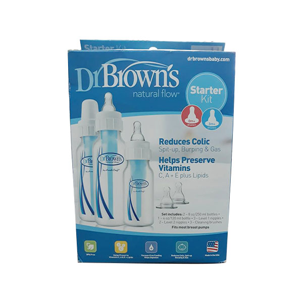 Regular Dr Brown PP bottle with 2 bottles of 240ml and 1 bottle of 120ml and 2 bottles of 2