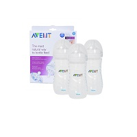 Avent Natural PP Bottle 260ml 3-pack
