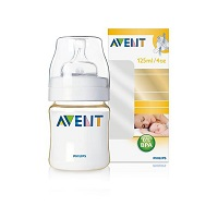 Avent milk bottle with single PES 125ml plastic