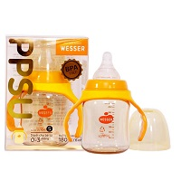 Bình sữa Wesser  cổ rộng PPSU 180ml