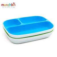 Bộ 2 đĩa chia ngăn chống trượt Munchkin (xanh lá-xanh lơ)