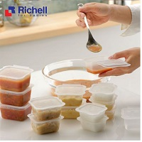 Set of 6 boxes of Richel food divided into 150ml RC98108