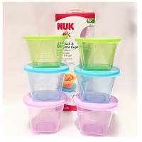 Set of 6 Nuk food containers