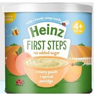 Bột Heinz 240gr ngọt 4m+, cháo kem đào mơ