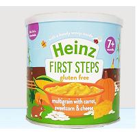 Bột Heinz mặn 7m+ ngũ cốc cà rốt phomai và bắp ngọt