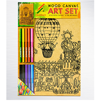 Canvas wood balloon WOOD-CANVAS1