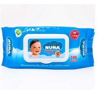 NuNa Wet Wipes Without Smell 100 Pieces