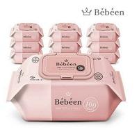 Khăn ướt Bebeen 100 tờ không mùi màu hồng