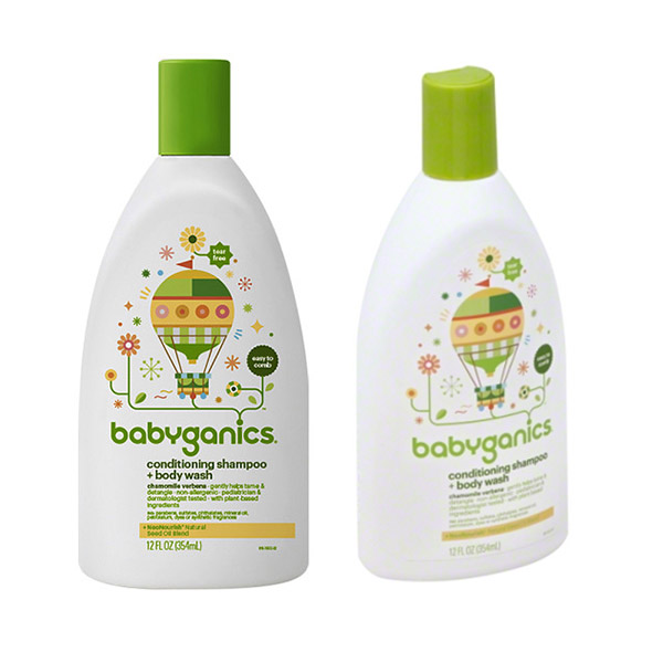 Shampoo and Conditioner with Babyganics 354ml