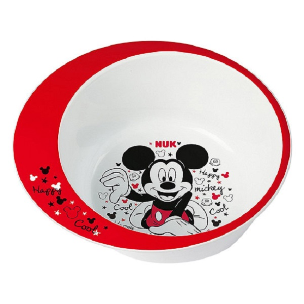 Mickey shaped plastic food bowl