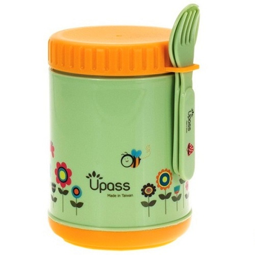 Upass 500cc food storage box with spoon and fork