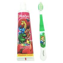 Bàn chải và kem đánh răng Raiya hương dâu cho bé