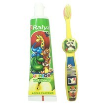 Raiya toothbrush and toothpaste