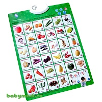 Smart electronic board vegetables world