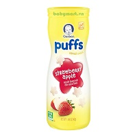 Gerber Graduates Puffs - Strawberry Apple Flavor