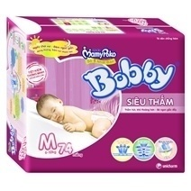 Bobby Fresh Tape Super Absorbent Diaper M74