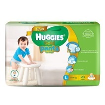 Huggies Pant Gold Diaper L28 (Boy)