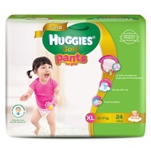 Huggies Pant Gold Diaper XL24 (Girl)