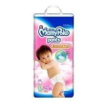 Bỉm Mamy Poko quần L28 bé gái