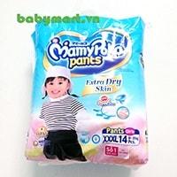 Bỉm Mamy Poko quần XXXL14 bé gái