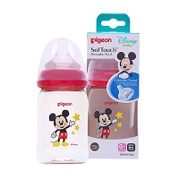 Bình sữa Pigeon PPSU Plus cổ rộng Disney 160ml