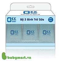 Bộ 3 bình trữ sữa KK smart 150ml