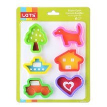 LET'S play dougn moulds - 6pcs