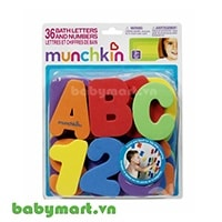 Bath letters and numbers Munchkin