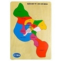 Wooden Jigsaw Puzzle - Ho Chi Minh City Map