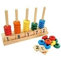 Wooden Bead Abacus Counting Maths
