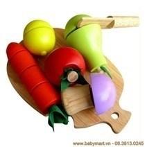 Đồ chơi gỗ - Bộ 5 loại trái cây