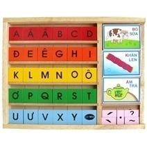 Đồ chơi gỗ - Bộ học vần
