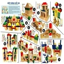 Wooden Toy - 100 Pieces Puzzle Set