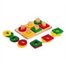 Đồ chơi gỗ - Bộ xếp hình 6 cọc
