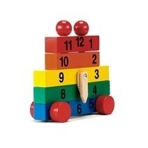Wooden Clock Hand Made Toys
