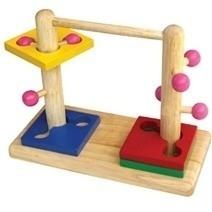 Đồ chơi gỗ - Đường luồn đôi
