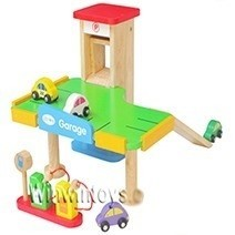 Đồ chơi gỗ - Ga-ra xe hơi
