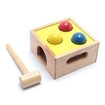 Wooden Plan Toy Punch and Drop